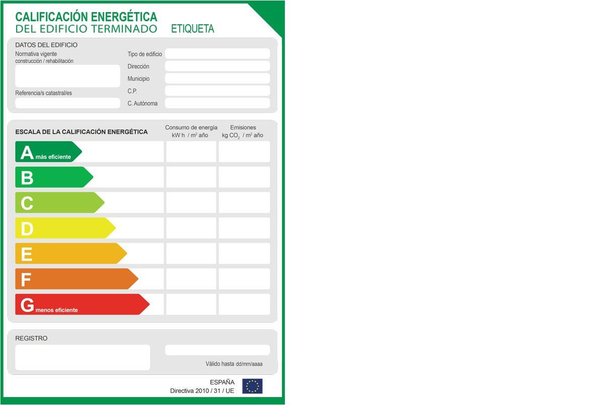 Etiqueta edificio terminado - Certificado Energético