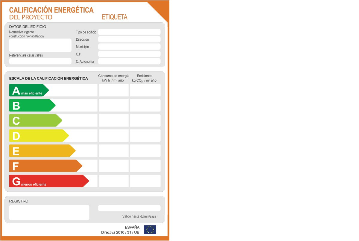 Etiqueta proyecto - Certificado Energético
